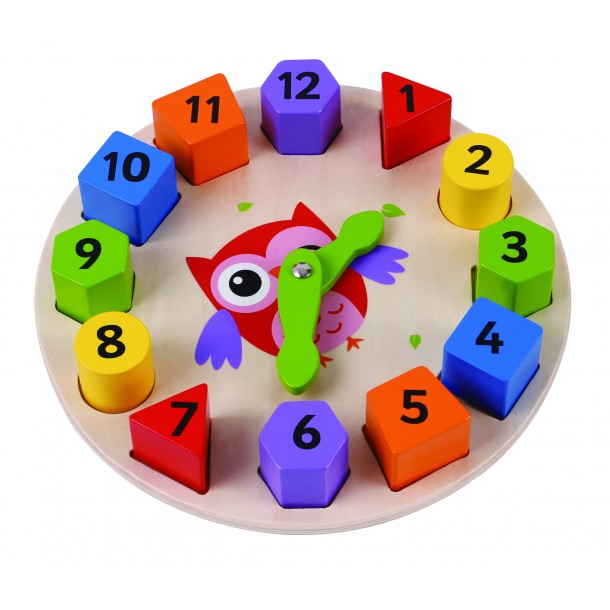 Geometrik Baykuş Saat